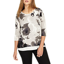 Buy Studio 8 Fanella Jumper, Black/White Online at johnlewis.com