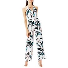 Buy Coast Butani Leaf Print Jumpsuit, Multi Online at johnlewis.com