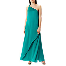 Buy Coast Lindos One Shoulder Maxi, Green Online at johnlewis.com