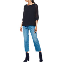 Buy Mint Velvet Layered Batwing T-Shirt, Black Online at johnlewis.com