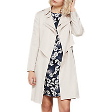 Buy Mint Velvet Linen-Blend Double-Layer Trench Coat, Neutral Online at johnlewis.com