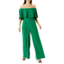 Buy Coast Naima Bardot Jumpsuit, Green Online at johnlewis.com