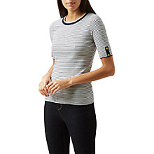 Buy Hobbs Sailor Knitted Top, Navy Ivory Online at johnlewis.com