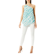 Buy Coast Montego One Shoulder Print Top, Multi Online at johnlewis.com