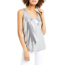 Buy Oasis Sequin Vest, Pale Grey Online at johnlewis.com