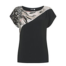 Buy Mint Velvet Teresa Print Blocked T-Shirt, Multi Online at johnlewis.com