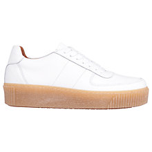 Buy Whistles Abbey Lace Up Trainers, White Online at johnlewis.com