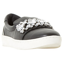 Buy Dune Endeavour Embellished Trainers, Black Online at johnlewis.com