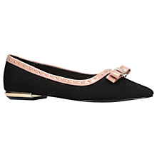 Buy Miss KG Nisha Bow Toe Ballerina Pumps, Black Suede Online at johnlewis.com