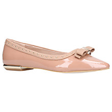 Buy Miss KG Nisha Bow Toe Ballerina Pumps, Nude Patent Online at johnlewis.com
