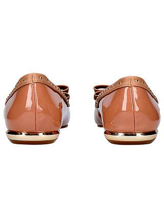 Miss KG Nisha Bow Toe Ballerina Pumps, Nude Patent at John