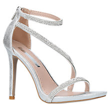 Buy Miss KG Dutchess Multi Strap Stiletto Sandals, Silver Online at johnlewis.com
