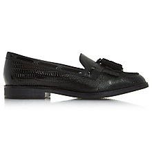Buy Dune Goodness Tassel Loafers, Black Online at johnlewis.com