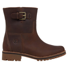Buy Timberland Main Hill Biker Boots, Brown Online at johnlewis.com