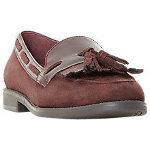 Buy Dune Goodness Fringe Tassel Loafers, Red Online at johnlewis.com