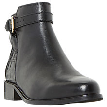 Buy Dune Poppy Block Heeled Ankle Boots, Black Online at johnlewis.com
