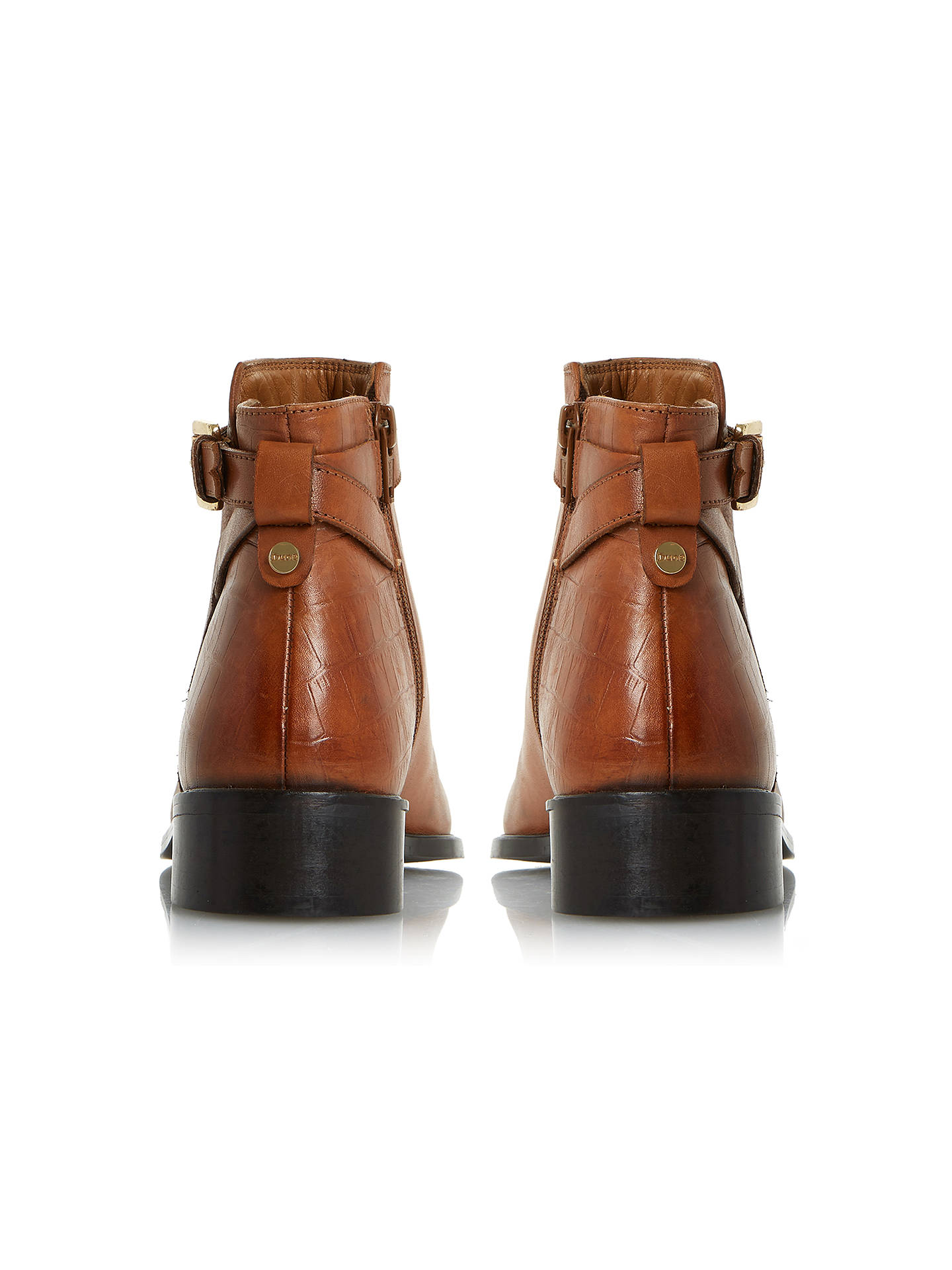BuyDune Poppy Block Heeled Ankle Chelsea Boots, Tan, 5 Online at johnlewis.com