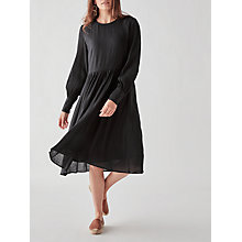 Buy Y.A.S Isla Loose Midi Dress, Black Online at johnlewis.com