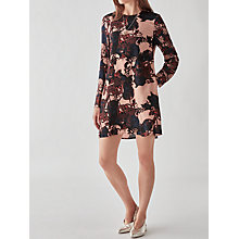 Buy Y.A.S Tulip Mix Dress, Blue/Mahogany Rose Online at johnlewis.com