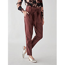 Buy Y.A.S Tudor Loose Paper Bag Trousers, Plum Online at johnlewis.com