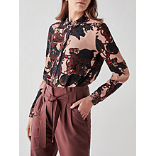 Buy Y.A.S Tulip Mix Shirt, Blue/Mahogany Rose Online at johnlewis.com