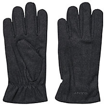 Buy Gant Melton Wool Rich Men's Gloves, Charcoal Online at johnlewis.com