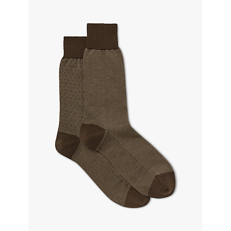 Buy John Lewis Birdseye Egyptian Cotton Socks, Pack of 2 Online at johnlewis.com
