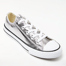 Buy Converse All Star Children's Low Metallic Trainers, Gunmetal Online at johnlewis.com