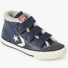 Buy Converse Children's Star Player 3V Triple Riptape Shoes, Navy Online at johnlewis.com