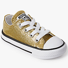 Buy Converse Children's Chuck Taylor All Star Trainers, Gold Glitter Online at johnlewis.com