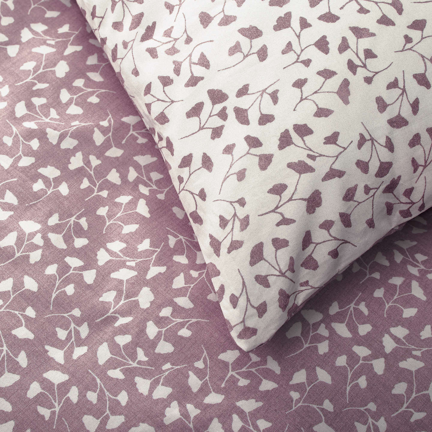 BuyJohn Lewis Country Arley Duvet Cover and Pillowcase Set, Single, Cassis Online at johnlewis.com