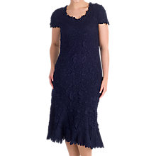 Buy Chesca Petal Trim Floral Crush Dress, Navy Online at johnlewis.com