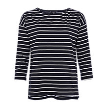 Buy French Connection Tim Tim Oversized Long-Sleeve Top, Utility Blue/White Online at johnlewis.com
