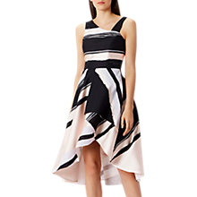 Buy Coast Columbus Stripe Midi Dress, Black/Pink Online at johnlewis.com