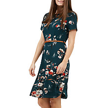 Buy Sugarhill Boutique Ohara Sketchy Floral Dress, Teal Online at johnlewis.com