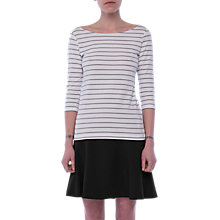 Buy French Connection Eso Tim Tim Striped Top, White/Utility Blue Online at johnlewis.com
