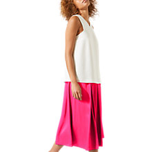 Buy Jigsaw Heavy Satin Fluid Skirt, Magenta Online at johnlewis.com