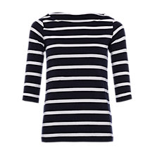 Buy French Connection Tim Tim Stripe Top, Utility Blue/White Online at johnlewis.com