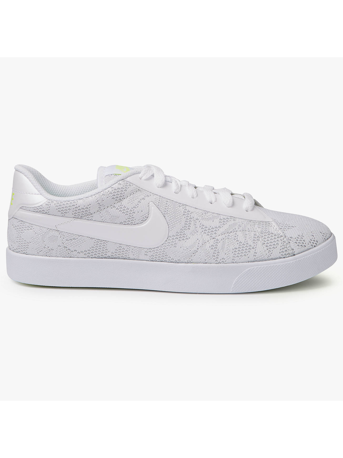 new style d1160 0b777 Buy Nike Racquette  17 ENG Trainer, White, 4 Online at johnlewis. ...