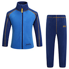 Buy Skogstad Girls' Trone Microfleece Set, Blue Online at johnlewis.com