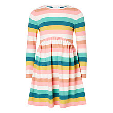Buy John Lewis Girls' Multi Stripe Jersey Dress, Pink/Multi Online at johnlewis.com