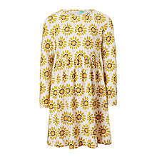 Buy John Lewis Girls' Floral Print Jersey Dress, Yellow Online at johnlewis.com