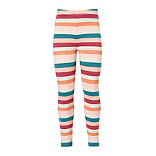 Buy John Lewis Girls' Stripe Print Leggings, Pink/Multi Online at johnlewis.com