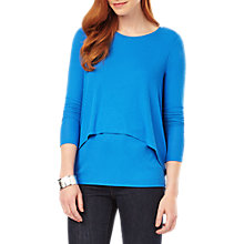 Buy Phase Eight Dita Double Layer Top, Cobalt Online at johnlewis.com