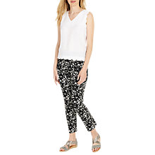 Buy Phase Eight Elise Lace Trousers, Ivory/Black Online at johnlewis.com