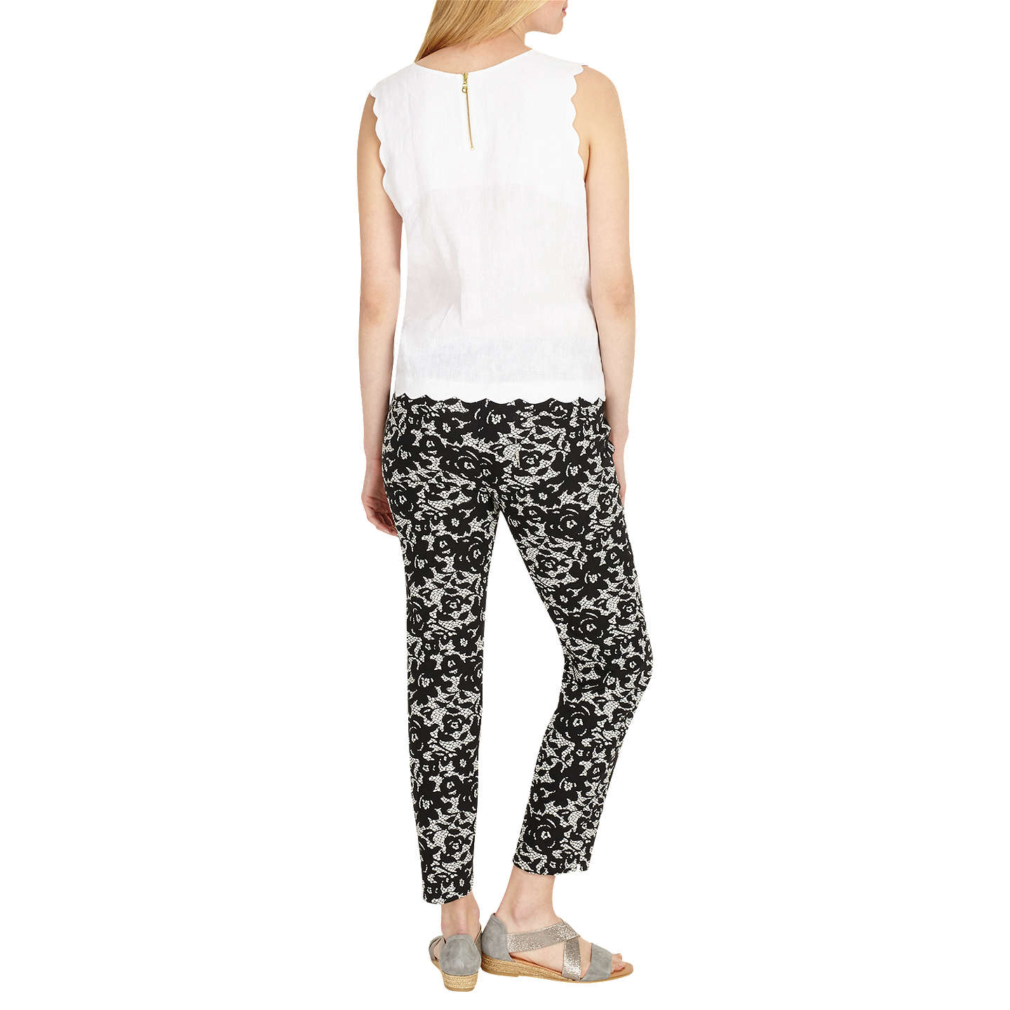BuyPhase Eight Elise Lace Trousers, Ivory/Black, 8 Online at johnlewis.com