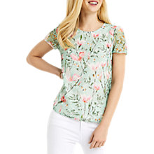 Buy Oasis Printed Lace Top, Multi Online at johnlewis.com