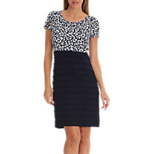 Buy Betty Barclay Floral Print And Jersey Dress, Cream/Dark Blue Online at johnlewis.com