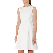 Buy Reiss Cara Textured Dress, Off White Online at johnlewis.com
