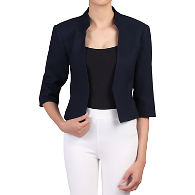 Product photo of Jolie moi textured open front blazer